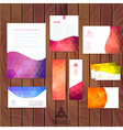 Corporate identity wave pattern abstract vector