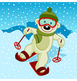 Polar bear skier vector