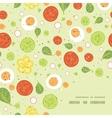Fresh salad frame corner pattern background vector
