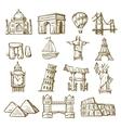 Hand drawn landmarks vector