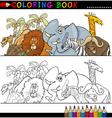 Wild safari animals for coloring vector