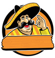 Mexican with okay sign vector