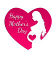 Pregnant happy mothers day greeting card vector