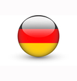 Round icon with national flag of germany vector