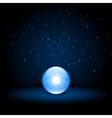Blue crystal ball vector