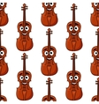 Seamless pattern of classical violins vector