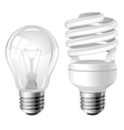 Incandescent and fluorescent energy saving light b vector