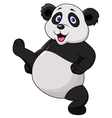 Panda cartoon doing martial art vector