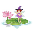 Fairy and lotus vector