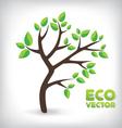 Green eco tree vector