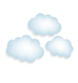 Clouds with a shadow isolated vector