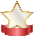 Gold and white star vector