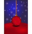 Christmas ball on abstract background vector