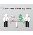 Creative idea business concept vector