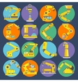 Robotic arm icons flat vector