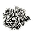 Hand drawn black roses vector