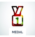 Colorful award business logo vector