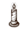 Easter candle vector