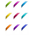 Set of corner ribbons in metallic colors vector