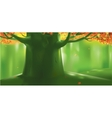 Deep forest tree at autumn vector