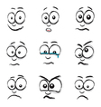 Emotions white vector