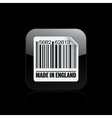 England barcode icon vector