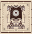 Antique border frame engraving vector