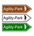 Sign agility park for dogs vector