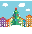 Christmas winter landscape vector