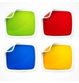 Four colored stickers vector