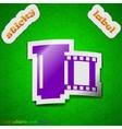 Negative films icon sign symbol chic colored vector