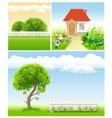 Set of garden images - templates for design vector
