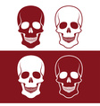 Set of skulls design template vector