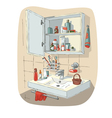 Bathroom interior vector