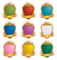 Gold emblems vector