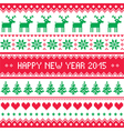Happy new year 2015 - scandinavian winter pattern vector