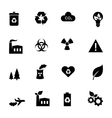Set of flat icons - ecology and environment vector