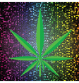 Cannabis background vector