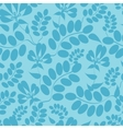 Blue leaves seamless pattern background vector
