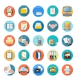 Icons set of office tools vector