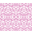 Seamless white floral lace pattern on pink vector
