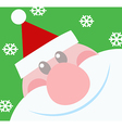 Smiling santa claus head vector