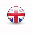 Round icon with national flag of the uk vector