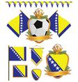 Bosnia and herzegovina flags vector