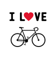 I love bicycle1 vector