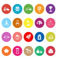 Vintage item flat icons on white background vector