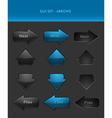 User interface elements - arrows vector