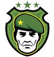 Soldier mascot vector