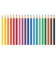 Nineteen coloured pencils vector