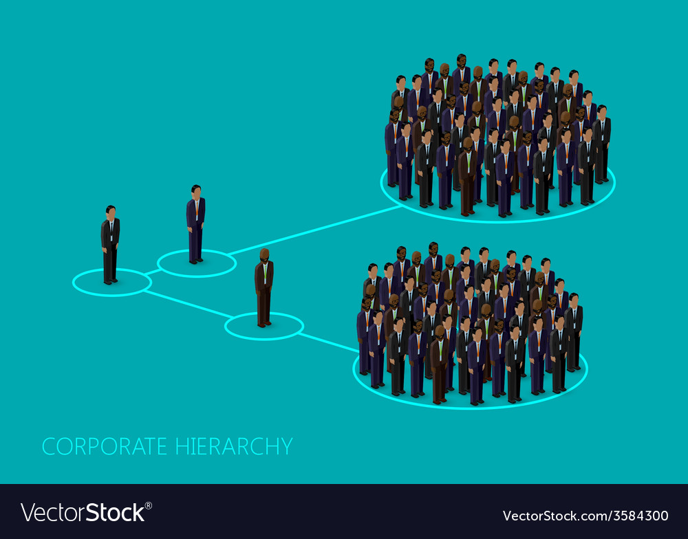 3d isometric of a corporate hierarchy structure a vector | Price: 1 Credit (USD $1)